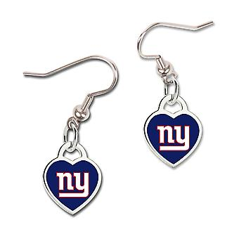 Wincraft ladies 3D heart earrings - NFL New York Giants
