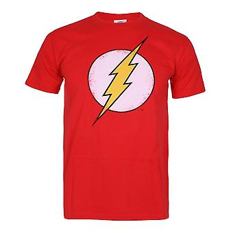 DC Comics Mens Red Flash nød t-skjorte