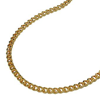 Curb chain 42cm gold plated