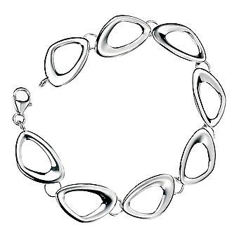 Elements Silver Cut Out Pebble Shape Link Bracelet - Silver
