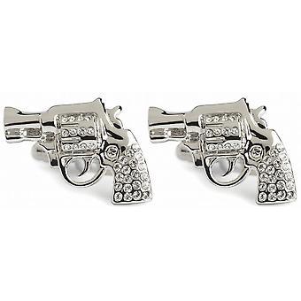 Gemelos cristal pistola de Simon Carter - plata