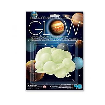 SALE -  Glow In The Dark 3D Solar System   Outer Space Crafts