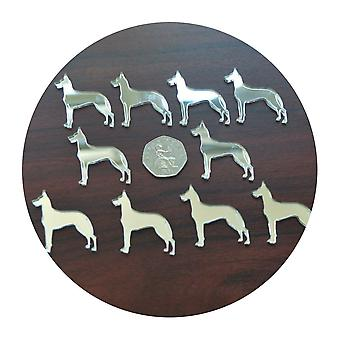 Great Dane Dog Mini Craft Sized Acrylic Mirrors (10Pk)