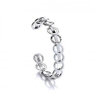Cavendish franska Silver ringar på ringar manschetten armband