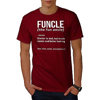 Uncle Funny Men RedT-shirt | Wellcoda