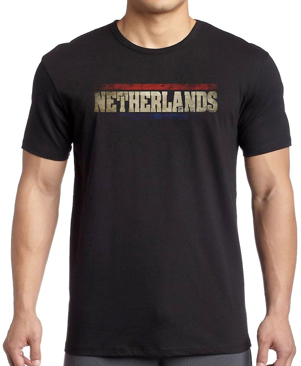 Netherlands Dutch Flag - Words Kids T Shirt
