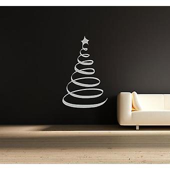 Wirbel-Weihnachtsbaum Wandtattoo Fenster Shop