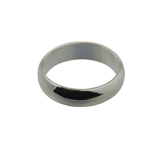 9ct White Gold 6mm plain D shaped Wedding Ring