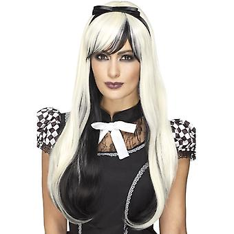 Womens Deluxe Gothic Alice Wig  Fancy Dress Accessory