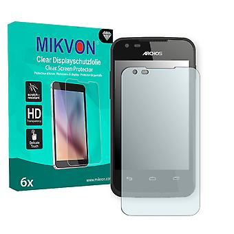 Archos 35 Carbon Screen Protector - Mikvon Clear (Retail Package con accessori)