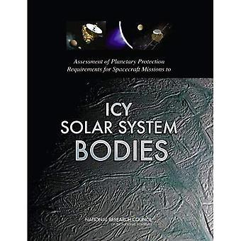 Valutazione dei requisiti di protezione planetaria per missioni di veicoli spaziali di corpi del sistema solare ghiacciate