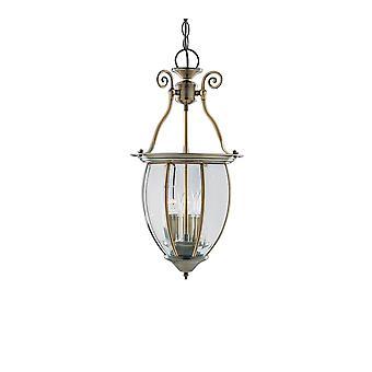 Antiguos de bronce y cristal tres linterna luz colgante - reflector 9501-3
