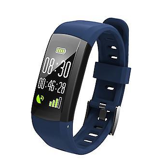 S906 Vattentätt Aktivitetsarmband för iOS och Android - Blå