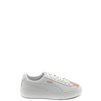 Puma White Leather Sneakers