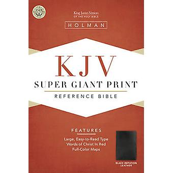 Bible Kjv Super Giant Print Reference Black - Black (large type editio