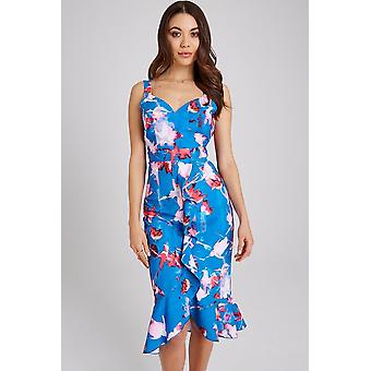 Little Mistress Mattie Floral-Print Bodycon Midi Dress