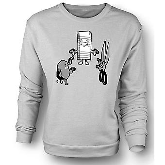 Mens Sweatshirt Rock Paper Scissors Shoot - Out