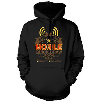 Womens Hoodie - Mobile Quick Draw Rules - Funny