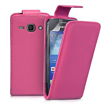 YouSave Samsung Galaxy Ace 3 Leather-Effect Flip Case - Hot Pink