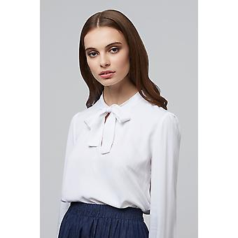Louche Miki Tie Neck Blouse White