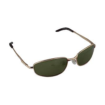 Sonnenbrille Sport Rechteck polarisierendes Glas Gold grün FREE BrillenkokerS306_6