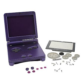 Replacement housing shell case kit for nintendo game boy advance sp gba - purple