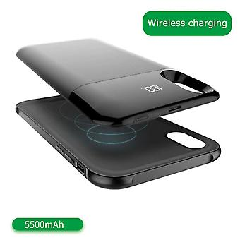 Stuff Certified ® iPhone XR 5500mAh Powercase Powerbank Charger Cover Case Case Digital Display Black