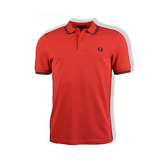 Fred Perry Twin Tipped Polo Shirt (Hibiscus Pink)