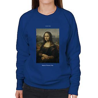 A.P.O.H Da Vinci Mona Lisa Made In Florence Italy Women's Sweatshirt