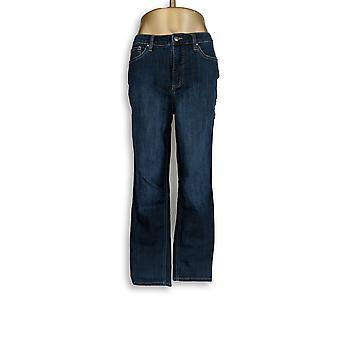 Denim & Co. Women's Jeans 5-Pocket Slim Straight Leg Blue A296667