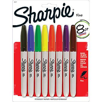 Sharpie Fine Point Permanent Markers Carded 8 Pkg Assorted Colors 30217Pp