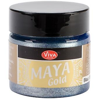 Viva Decor Maya Gold 50 Ml blauw Maya 60034