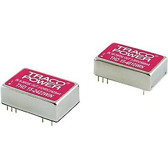 DC/DC converter (print) TracoPower THN Series 48 Vdc 12 Vdc, -12 Vdc 625 mA 15 W No. of outputs: 2 x