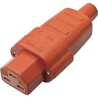 Hot wire connector C21 ATT.LOV.SERIES_POWERCONNECTORS 444 Socket, straight Total number of pins: 2 + PE 16 A Red Kalthof