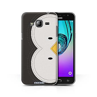 STUFF4 Case/Cover for Samsung Galaxy J3/Penguin/Animal Stitch Effect