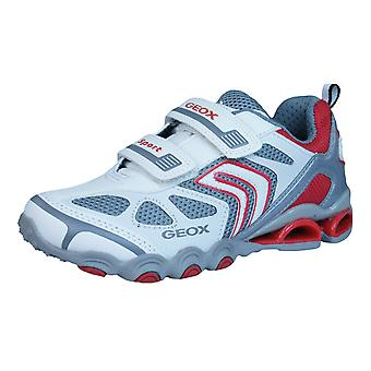 Geox Trainers J Tornado A Boys Shoes - White