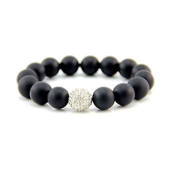 12mm Matte Black Onyx Bracelet