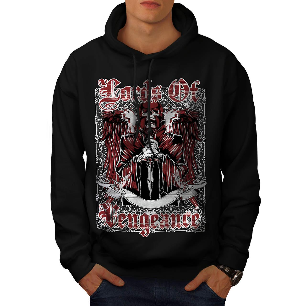 Lords Of Vengeance Monster skalle män svart Hoodie | Wellcoda
