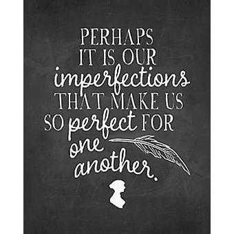 Imperfections Chalkboard Poster Print by Amy Cummings