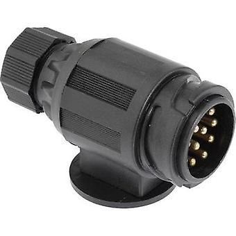 Trailer connector [13-pin socket - 13-pin plug] DINO 130079 ABS plastic