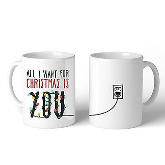 All I Want For Christmas You Lighting Mug Christmas Gift Idea