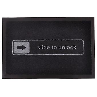'Slide to unlock' doormat doormat floor mat