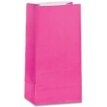 Paper Party bags - Hot Pink - pack of 12