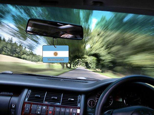 Argentina Flag Personalised Car Air Freshener