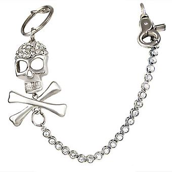 Jeans chain - iced out skull 6mm - 80cm