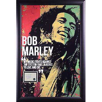 Bob Marley Poster with Signature Cut Out