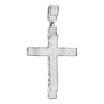 Premium Bling - 925 sterling sølv Kors vedhæng