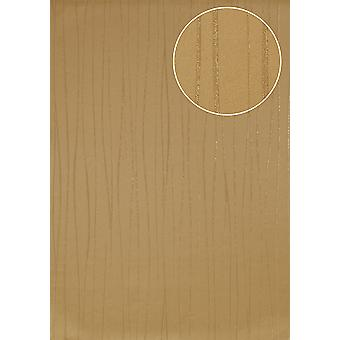 Stripes Atlas ICO-5077-4 non-woven wallpaper smooth design shimmering gold ivory 7,035 m2