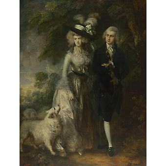 Thomas Gainsborough - The Morning Walk Poster Print Giclee