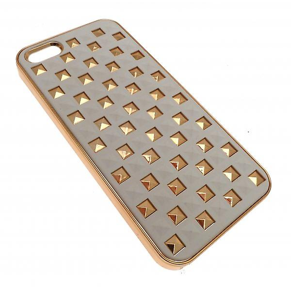 W.A.T Cream And Gold Style  Stud  IPhone 5 Phone Hard Cover Phone Case